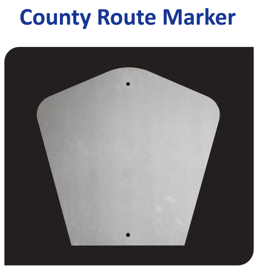 Vulcan Aluminum County Route Marker Sign Blank