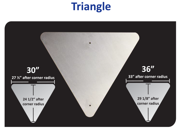 Vulcan Aluminum Triangle Sign Blank